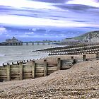 On the Beach in Eastbourne   ( 3 ) by Larry Lingard-Davis