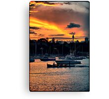 Rose Bay marina Canvas Print