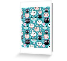 pattern of love funny cats Greeting Card