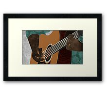 Acoustic Electric Guitar Music Framed Print