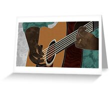 Acoustic Electric Guitar Music Greeting Card
