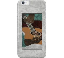 Acoustic Electric Guitar Music iPhone Case/Skin