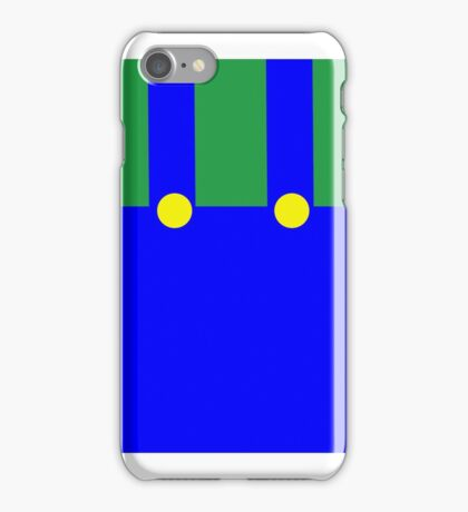 Luigi Suspenders green blue Iphone iPhone Case/Skin
