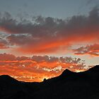 Sunset Over Mountains in Nevada (part 2) by Jared Manninen