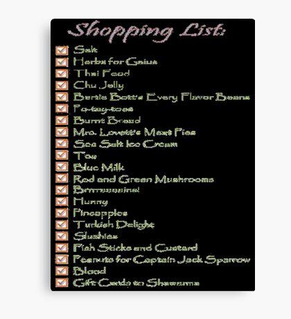 Geek Shopping List Canvas Print