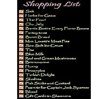 Geek Shopping List Photographic Print