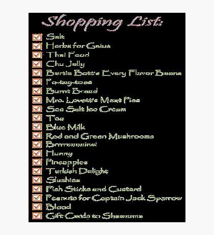 Geek Shopping List Photographic Print