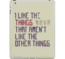 The Things I Like iPad Case/Skin
