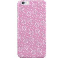 Stylish Rose Pattern on Pink Background iPhone Case/Skin