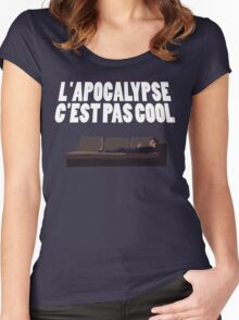 L'APOCALYPSE C'EST PAS COOL (VDF) Women's Fitted Scoop T-Shirt