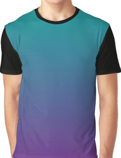 Ombre | Teal and Purple Graphic T-Shirt