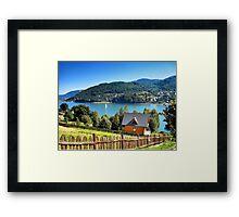 Summer on the lake Framed Print