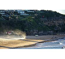Warriewood beach rescue Photographic Print