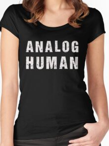 Analog Human (white) Women's Fitted Scoop T-Shirt
