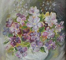 Flowers In Vase by ArtByRuta