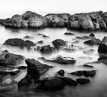 Wye River Beach Rocks - 1 by Mick Kupresanin