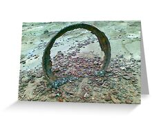 I threw it in the sea and it came back to me rusted and troubled. Greeting Card