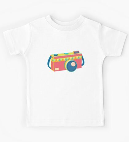 Say Cheese! - retro Camera Kids Tee