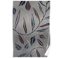Willow Leaves. Print of Embroidered Textile Poster