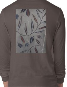 Willow Leaves. Print of Embroidered Textile Long Sleeve T-Shirt