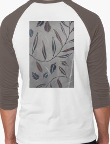 Willow Leaves. Print of Embroidered Textile Men's Baseball ¾ T-Shirt