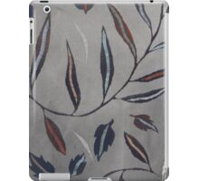 Willow Leaves. Print of Embroidered Textile iPad Case/Skin