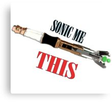 Sonic Me This Canvas Print