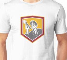 Security Guard With Flashlight Shield Retro Unisex T-Shirt