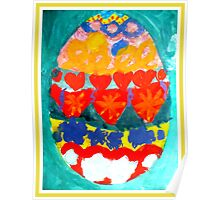 Easter Egg Painting Poster