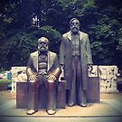 Marks and Engels in Berlin by Caterpillar