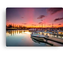 Sunset on Raby - Cleveland Qld Australia Canvas Print