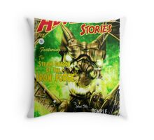 Adventure Stories The Steam Dragon of the Iron Forge Throw Pillow