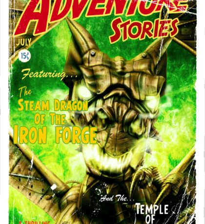 Adventure Stories The Steam Dragon of the Iron Forge Sticker