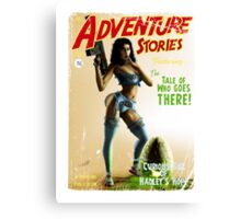 Adventure Stories The Tale of who Goes There Canvas Print