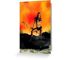 Alien Huntress Greeting Card