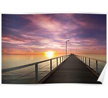 Largs Bay Pink Sunset Poster