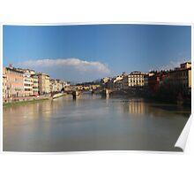 Florence - Bridges, Arno River Poster