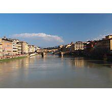 Florence - Bridges, Arno River Photographic Print