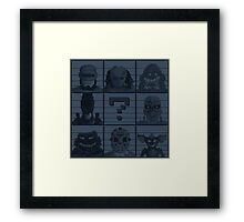 Select your character Framed Print