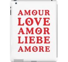 The Language of Love - Text Art iPad Case/Skin
