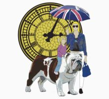 big ben british bulldog by IanByfordArt