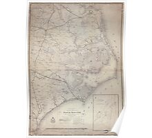 Civil War Maps 0353 Eastern portion of the Military Department of North Carolina Poster