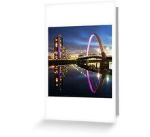 Glasgow Clyde Arc Twilight Greeting Card