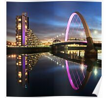 Glasgow Clyde Arc Twilight Poster