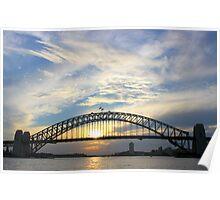 Sydney Harbour Bridge Sunset Poster