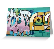 Graffiti on a Wall in Cotacachi Greeting Card