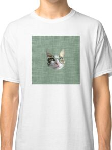 Green Hipster Cat With an Oil Touch Classic T-Shirt