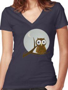 Bird Night Women's Fitted V-Neck T-Shirt
