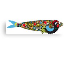 Symbols of Portugal - Cool Mix Rooster Sardine Canvas Print