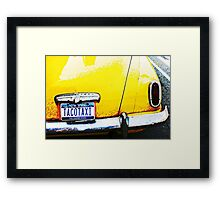 Taco Taxi, New York Framed Print